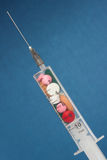 Syringe with medicine Stock Photos