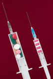 Syringe with medicine Stock Photo