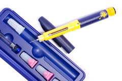 Syringe pen personal kit Royalty Free Stock Photos