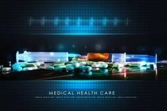 Syringe with pills Stock Photo