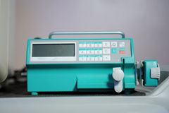 Syringe pump with monitor Stock Image