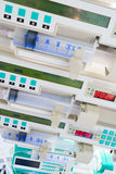 Syringe pumps in ICU. Stock Images