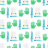 Syringe seamless pattern background cartoon illustration. Syringe seamless pattern background cartoon illustration hospital injection medical inject medication Royalty Free Stock Image