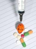 Syringe   skull Stock Photo