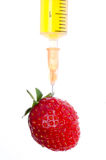 Syringe with strawberry Royalty Free Stock Photo