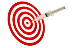 Syringe and Target stock photo