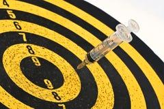 Syringe and Target Stock Image