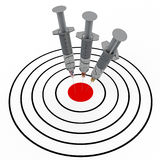 Syringe and target Stock Images