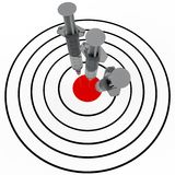 Syringe and target Stock Photography