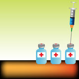 Syringe and vials Stock Photo