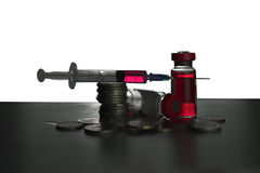 Syringe and Vials Stock Photography
