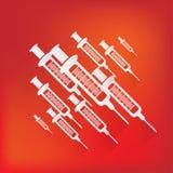 Syringe web icon Royalty Free Stock Photos