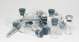 Syringes and ampules Stock Photo