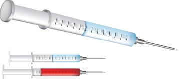 Syringes for immunisation and vaccination Royalty Free Stock Image