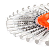 Syringes Making a Point Stock Image