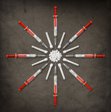 Syringes & Pills Stock Photos