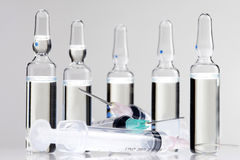 Syringes and vials 2 Stock Image