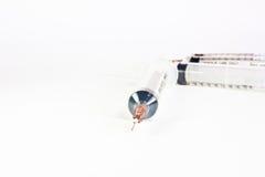 Syringes on white background Stock Photo