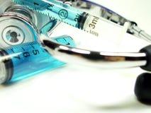 Syrings avec le stéthoscope 2 Images stock