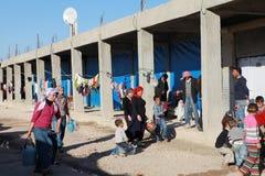 SYRISCHE FLÜCHTLINGE IN SURUC, DIE TÜRKEI Stockbild