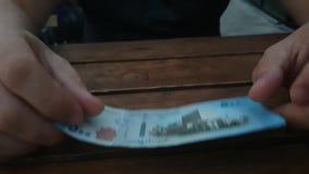 500 syrische Pfund Banknote stock video