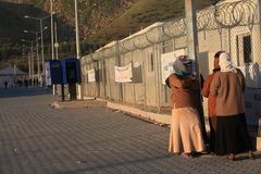 Syrisches Flüchtlingslager Stockfotos