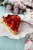 Syrlig hemlagad jordgubbe Fotografering för Bildbyråer
