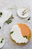 Syrlig marmorbakgrund för grapefrukt Arkivbild
