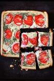 syrlig tomat för ost Royaltyfri Fotografi