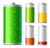 Syrliga batterier royaltyfri illustrationer