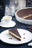 Syrliga choklad och kaffe Royaltyfria Bilder