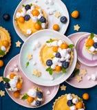 Syrliga citron och maräng Royaltyfria Bilder