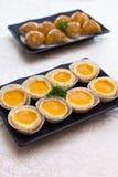 Syrligt ägg eller syrlig äggvaniljsås Royaltyfri Fotografi