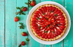Syrligt med jordgubbar Royaltyfri Fotografi