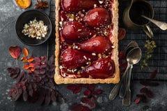syrligt med rött vin tjuvjagade päron Royaltyfri Bild