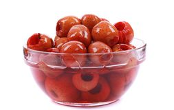 Syropu głogowy czerwony owocowy jedzenie zdjęcie stock