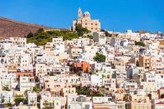 Syros海岛在希腊 免版税图库摄影
