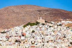 Syros海岛在希腊 免版税库存照片