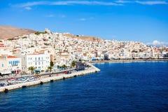 Syros海岛在希腊 免版税库存图片