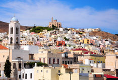 Syros, Greece. Beautiful cityscape of Syros, Greece Royalty Free Stock Images