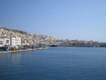 Syros, Griekenland stock foto's