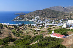 Syros island in Greece. Kini bay at Syros island in Greece Royalty Free Stock Photography