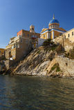 Syros. Main church of Ermoupoli on Syros island in Greece Royalty Free Stock Photography