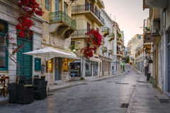 Syros. The old town of Ermoupoli on Syros island Royalty Free Stock Image