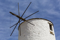 Syros. Old windmill outside of Ano Syros village on Syros island Royalty Free Stock Photo