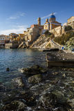 Syros. Town beach in Ermoupoli on Syros island in Greece Stock Photography