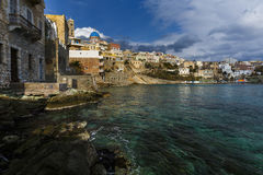 Syros. Town of Ermoupoli on Syros island in Greece Royalty Free Stock Photos