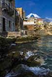 Syros. Town of Ermoupoli on Syros island in Greece Stock Photos