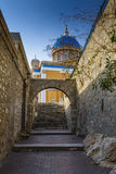 Syros. Town of Ermoupoli on Syros island in Greece Stock Image