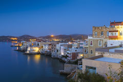 Syros. Vaporia district of Ermoupoli town on Syros island Royalty Free Stock Photo